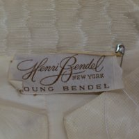 View of Label in 1960's Wedding Mini-Dress