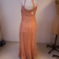 Back View of Peach Dress with Lace Bolero