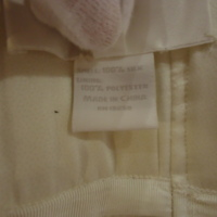 Label View of Wedding Dress of Anna Langdell