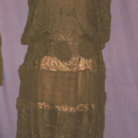 Front View of Black Lace Dropwaist Dress