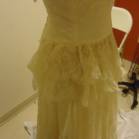 Detail View of Wedding Dress of Muriel Kahn Lampell