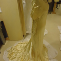 Side View of Wedding Dress of Hennrietta S. Robinson