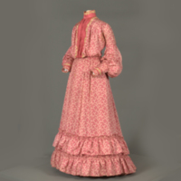 Front View of Pink Patterned Dress