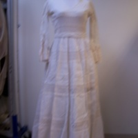 Front View of 1980's Wedding Dress