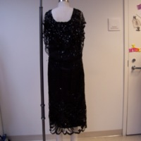 Back View of 1920's Black Dress with Sequins