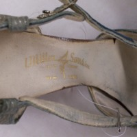 View of Label in Silver Heels
