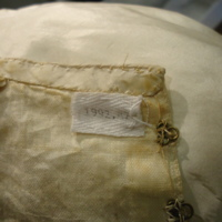 Interior View of Wedding Dress of Margaret A. Heminway