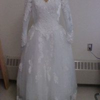 Front View of Wedding Dress of Willa McCarthy
