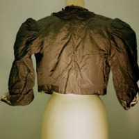 Back View of Black Taffeta Bodice with 3/4 sleeves