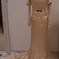 Front View of Wedding Dress of Ken Robinson's Mother