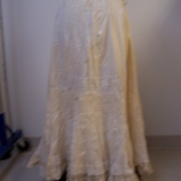 Back View of Cream Petticoat with Lace Trim