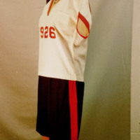 Side View of 1926 Gymsuit Ensemble