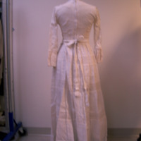 Back View of 1980's Wedding Dress