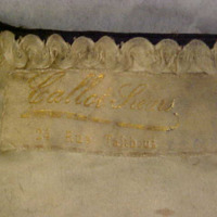 View of Label in Cape with lappets