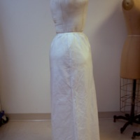 View of Condition of 1980's Wedding Dress
