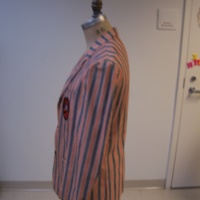 Side View of Princeton Striped Jacket with Badge
