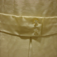 Detail View of Wedding Mini-Dress of Ellen McPhillips Baumann