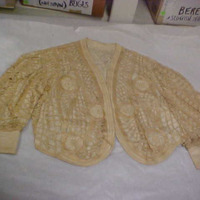 Front View of Cream Patterned Jacket