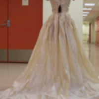 Back View of 1954 Wedding Dress