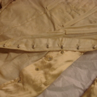 Interior of Ivory Satin Gown with Train