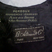 View of Label in Gray Eyelet Jacket