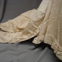 Detail of Ivory Silk Faille Gown with Bows