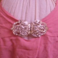 Detail View of Pink Dress and Bolero