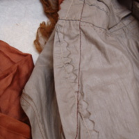 Interior View of Brown Tea Gown