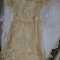 Front View of Wedding Dress and Veil