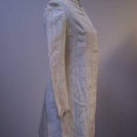Side View of 1960's Wedding Mini-Dress