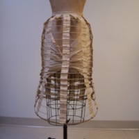 Back View of Full Length Bustle Cage
