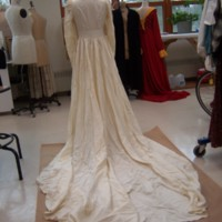 Back View of Ivory Wedding Dress of Marion Heagan Sauter
