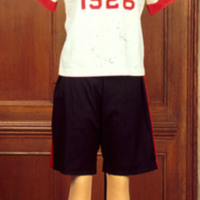 Front View of 1926 Gymsuit Ensemble