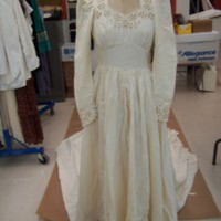 Front View of Ivory Wedding Dress of Marion Heagan Sauter