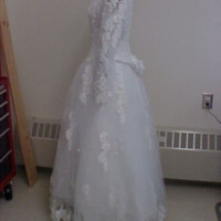 Side View of Wedding Dress of Willa McCarthy