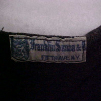 View of Label in Black Bathing Suit