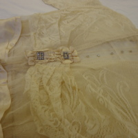 Detail View of Wedding Dress of Beulah May Christ Hummel