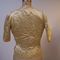 Back View of Gold Silk Blouse with Bow