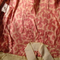 Interior Construction View of Pink Patterned Dress