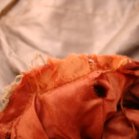 View of Condition of Brown Tea Gown