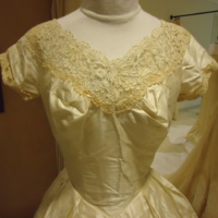 Detail View of Wedding Dress of Mary Lee Hartzell