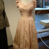 Front View of Pink 1950's Formal Dress