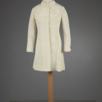 Front View of 1968 Wedding Mini-Dress of Ellen McPhillips Baumann