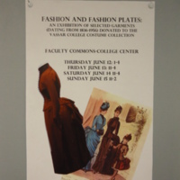 "Photograph of ""Fashion and Fashion Plates"" exhibition poster"