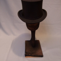 Back View of Black Collapsible Top Hat