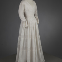 Front View of 1981 Wedding Dress of Leontine Hartzell