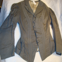 Front View of Gray Wool Riding Coat