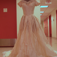 Front View of 1954 Wedding Dress