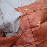 Condition View of Brown Tea Gown