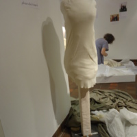 Condition View of Cream Wedding Dress of Leontine Kennedy McPhillips